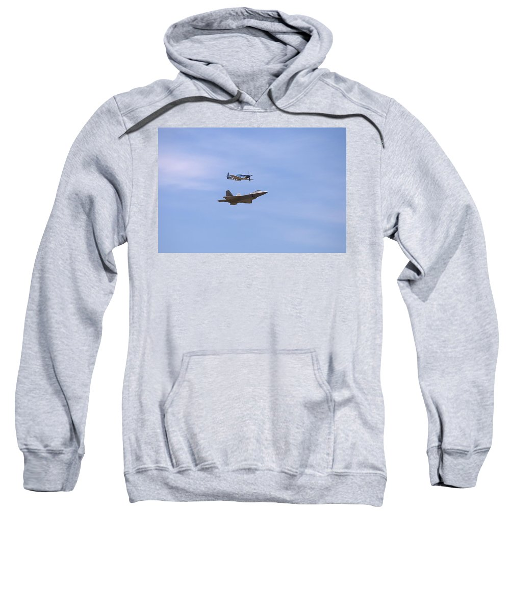4826 Sweatshirt featuring the photograph Herritage Flight Formation by Gordon Elwell