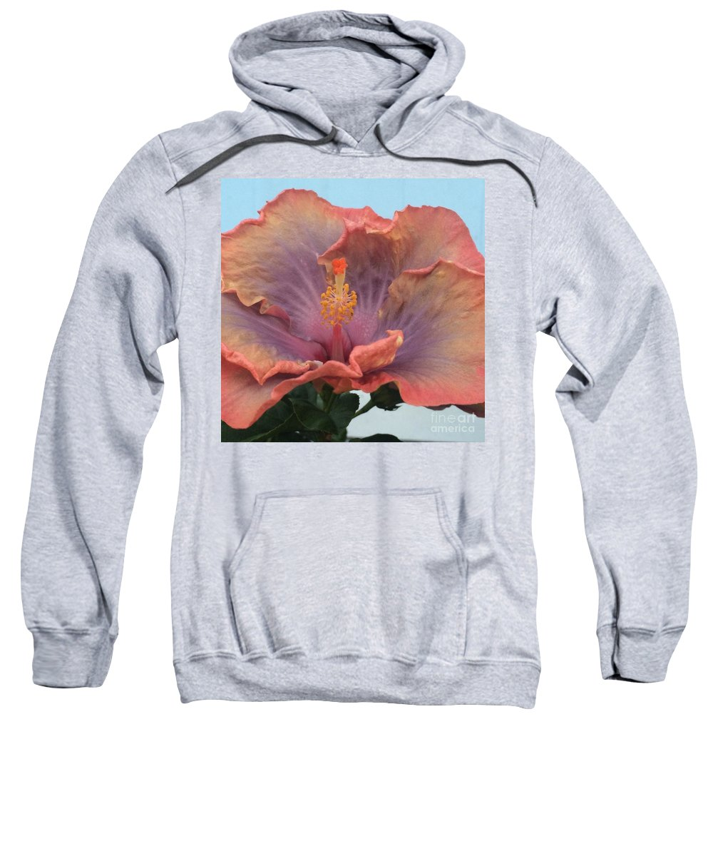 Hibiscus Sweatshirt featuring the photograph Hibiscus by Robin Maria Pedrero