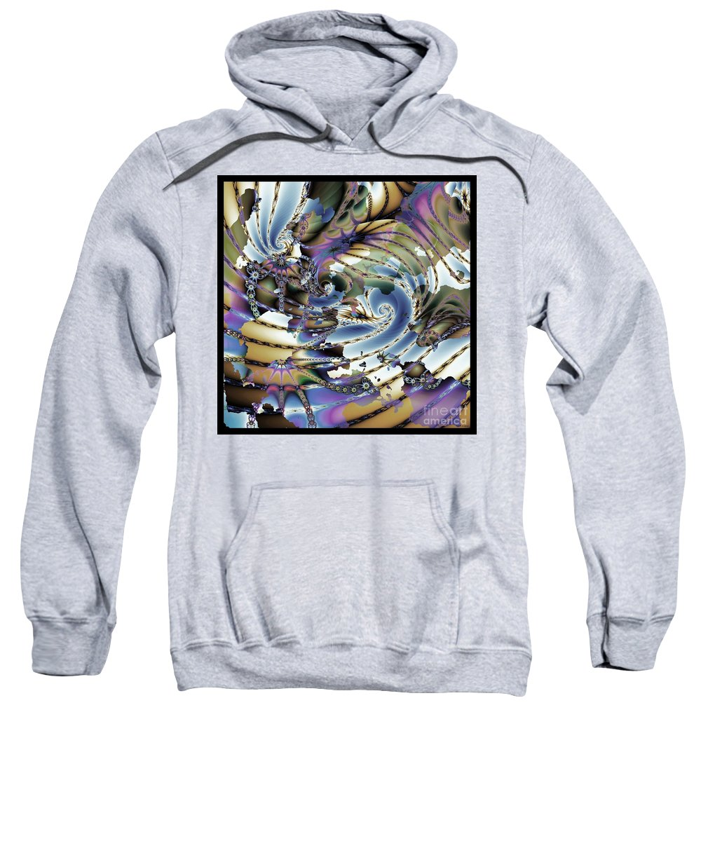 Hidden Chaos Of Order Sweatshirt featuring the digital art Hidden Chaos Of Order by Elizabeth McTaggart