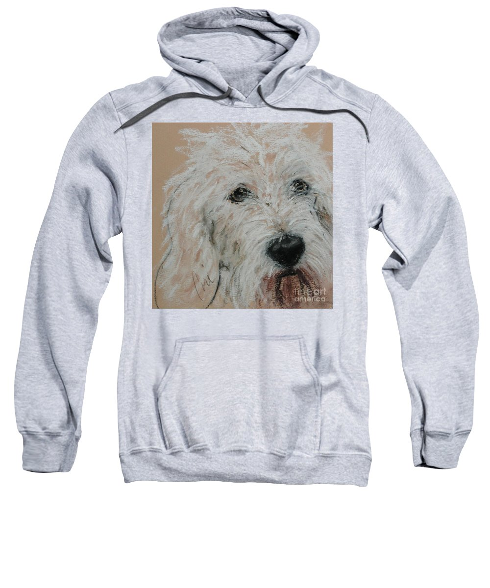 Dog Sweatshirt featuring the pastel High Spirits by Cori Solomon