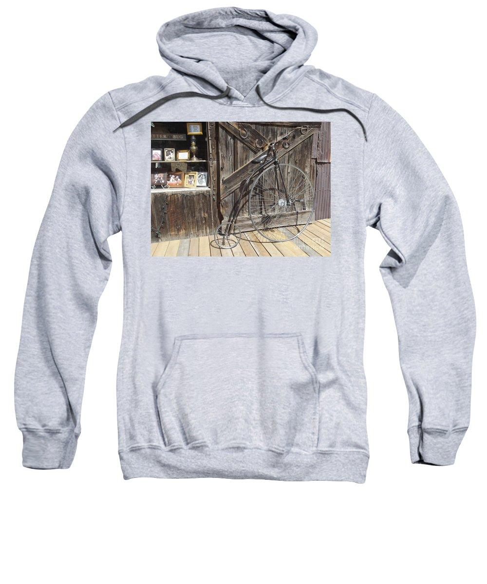 Bike Sweatshirt featuring the photograph High-wheel by Jennifer Lavigne