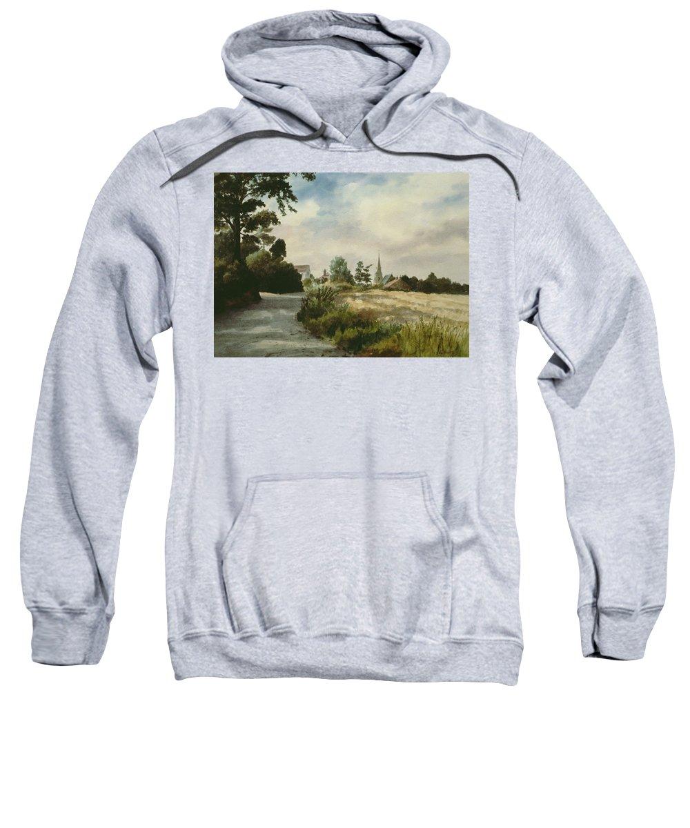 Sweatshirt featuring the painting Higham Upshire by Vic Trevett