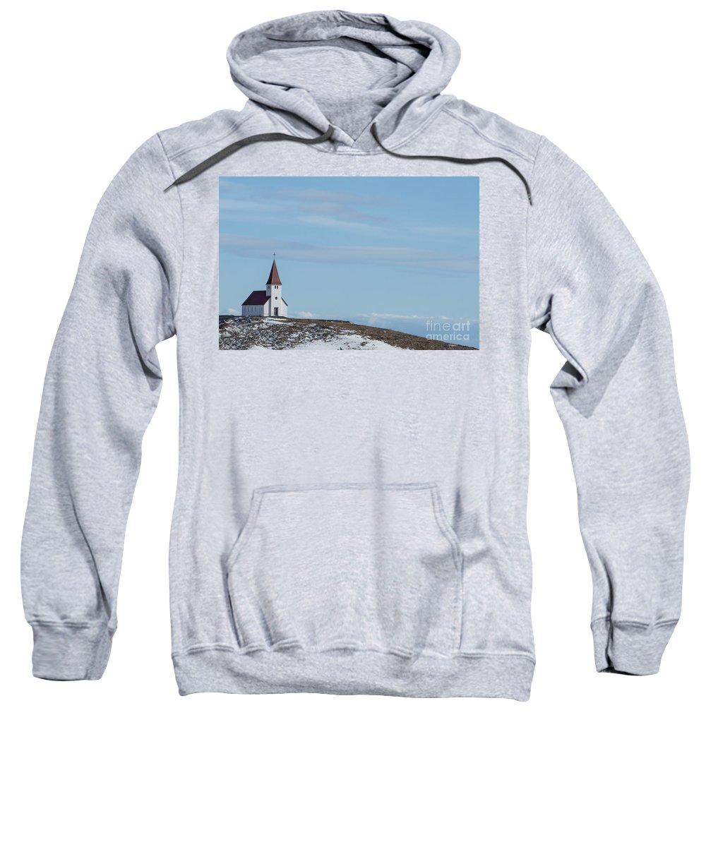 Vik Sweatshirt featuring the photograph Higher Believes by Evelina Kremsdorf
