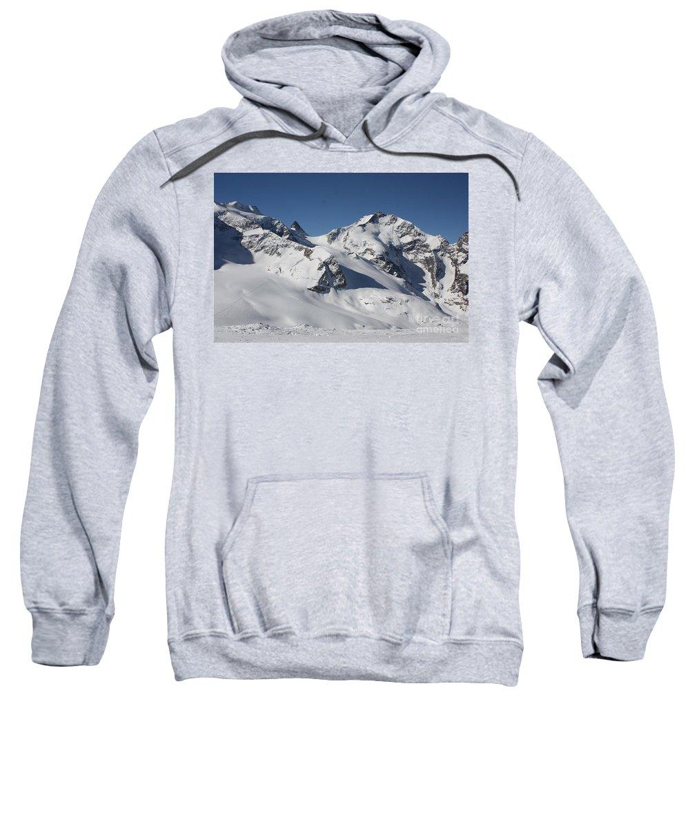 St. Mortiz Sweatshirt featuring the photograph Highest Peak St Mortiz by Christine Dekkers