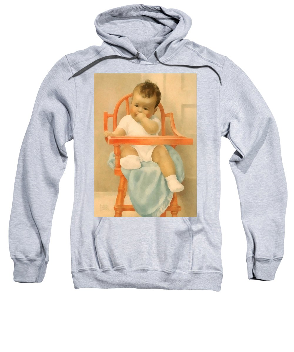 His Majesty Sweatshirt featuring the digital art His Majesty by Bessie Pease Gutmann