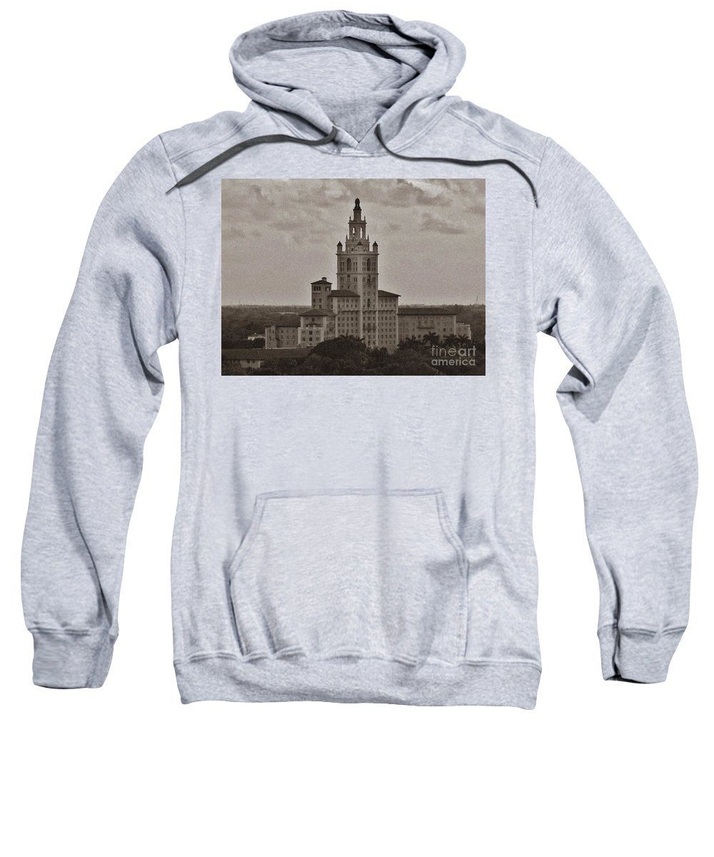 Miami Sweatshirt featuring the photograph Historic Biltmore Hotel by Keri West
