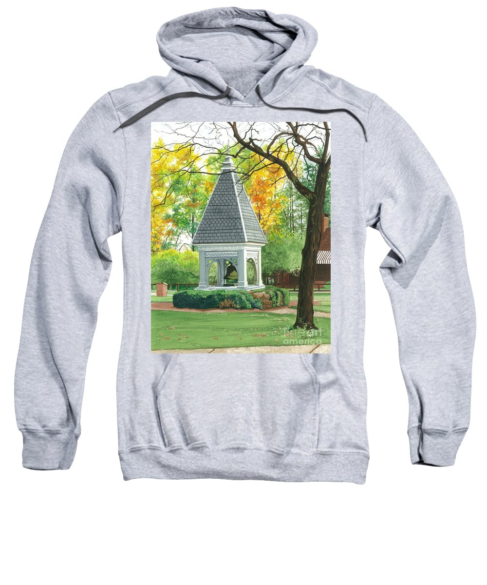 Water Color Paintings Sweatshirt featuring the painting History And Tradition by Barbara Jewell