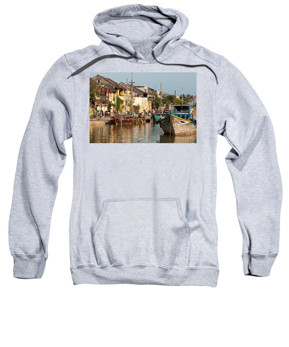 Vietnam Sweatshirt featuring the photograph Hoi An Fishing Boats 02 by Rick Piper Photography