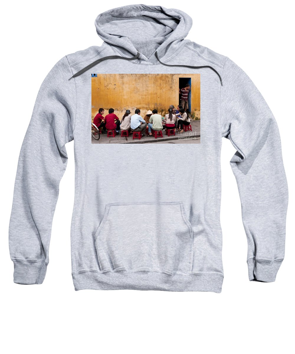 Vietnam Sweatshirt featuring the photograph Hoi An Noodle Stall 05 by Rick Piper Photography