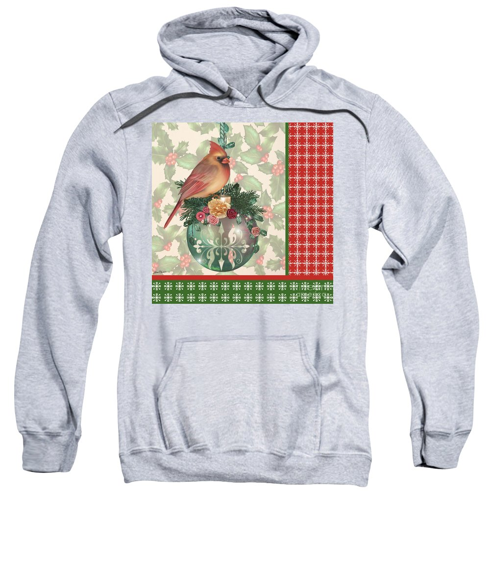 Digital Art Sweatshirt featuring the digital art Holly And Berries-a by Jean Plout