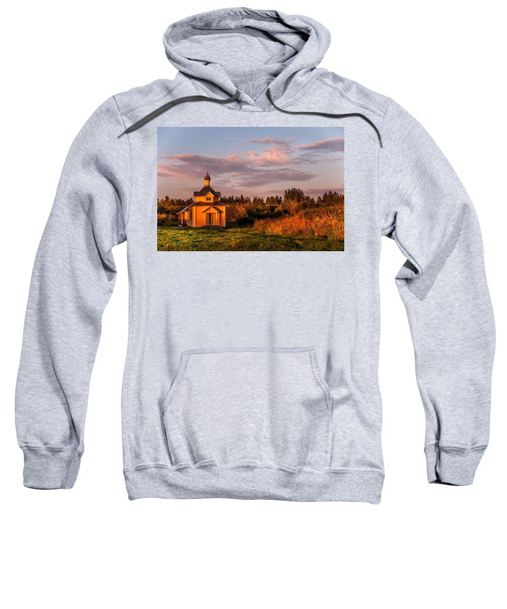 Landscape Sweatshirt featuring the photograph Holy Source. Karelia by Jenny Rainbow