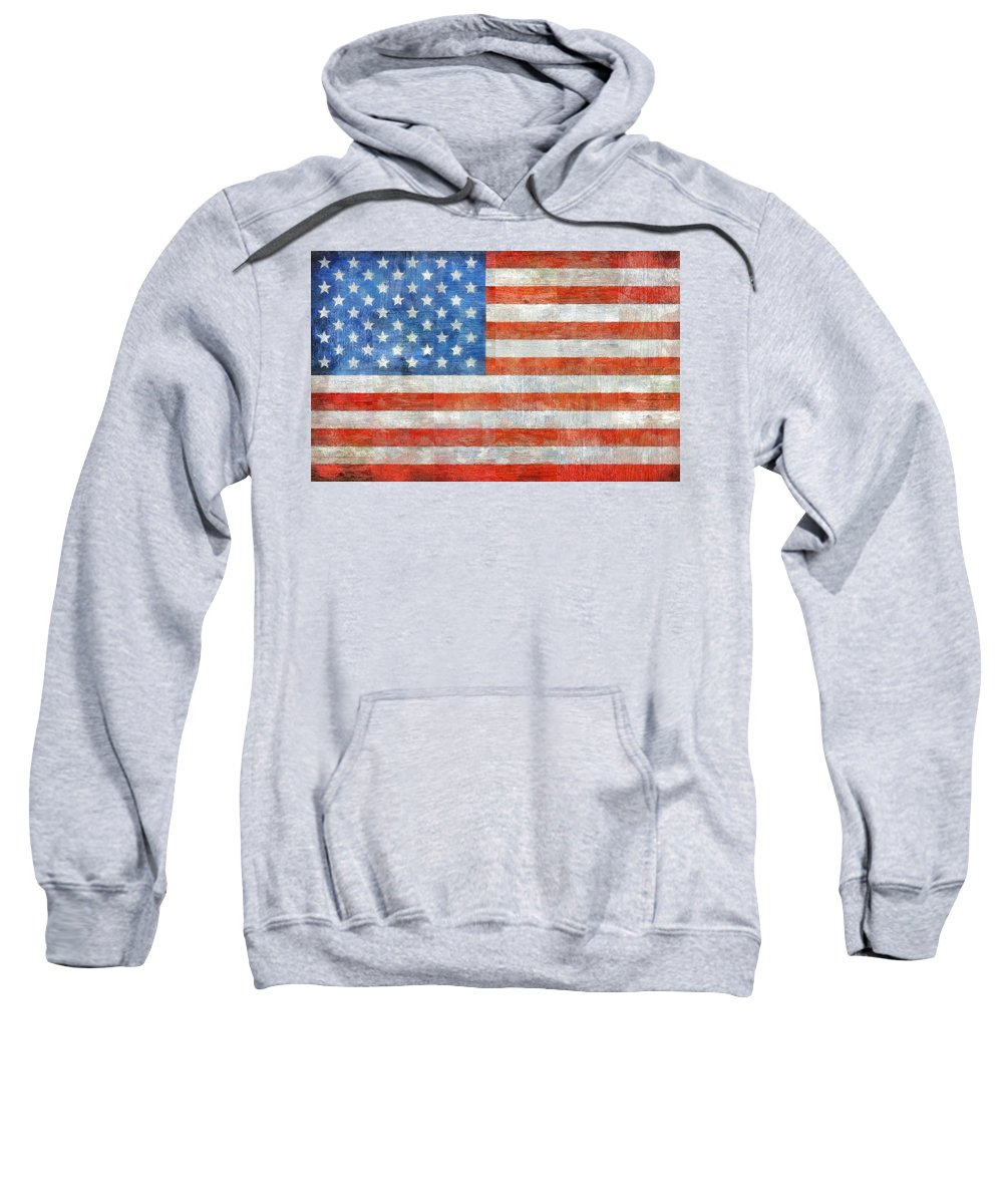 Flag Sweatshirt featuring the painting Homeland by Michelle Calkins