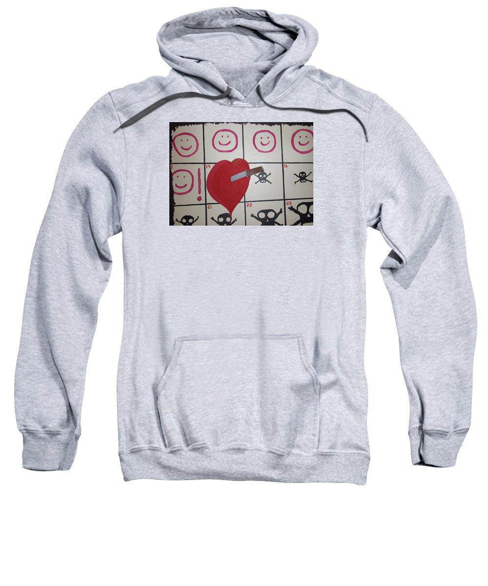 Edgy Sweatshirt featuring the painting Honeymoons Over by Dean Stephens