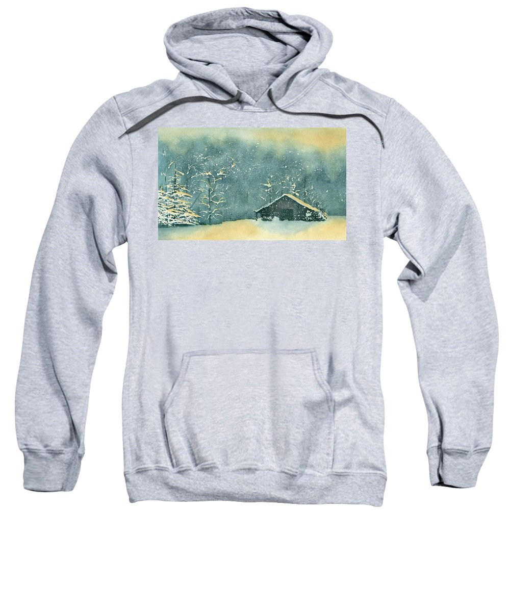 Watercolor Sweatshirt featuring the painting Hope Amidst The Storm by Brett Winn