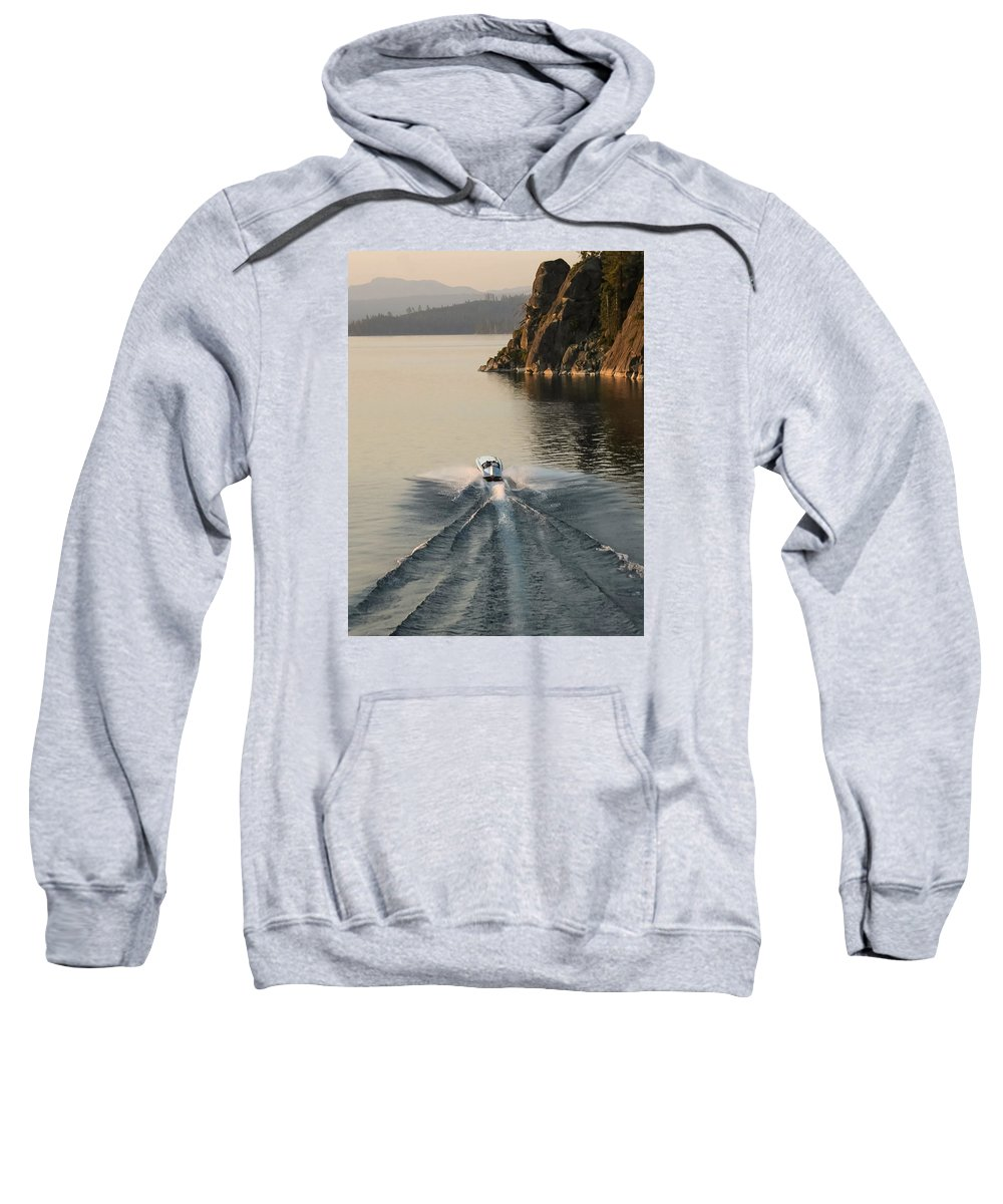 Aerial Sweatshirt featuring the photograph Hornet II Aerial by Steven Lapkin