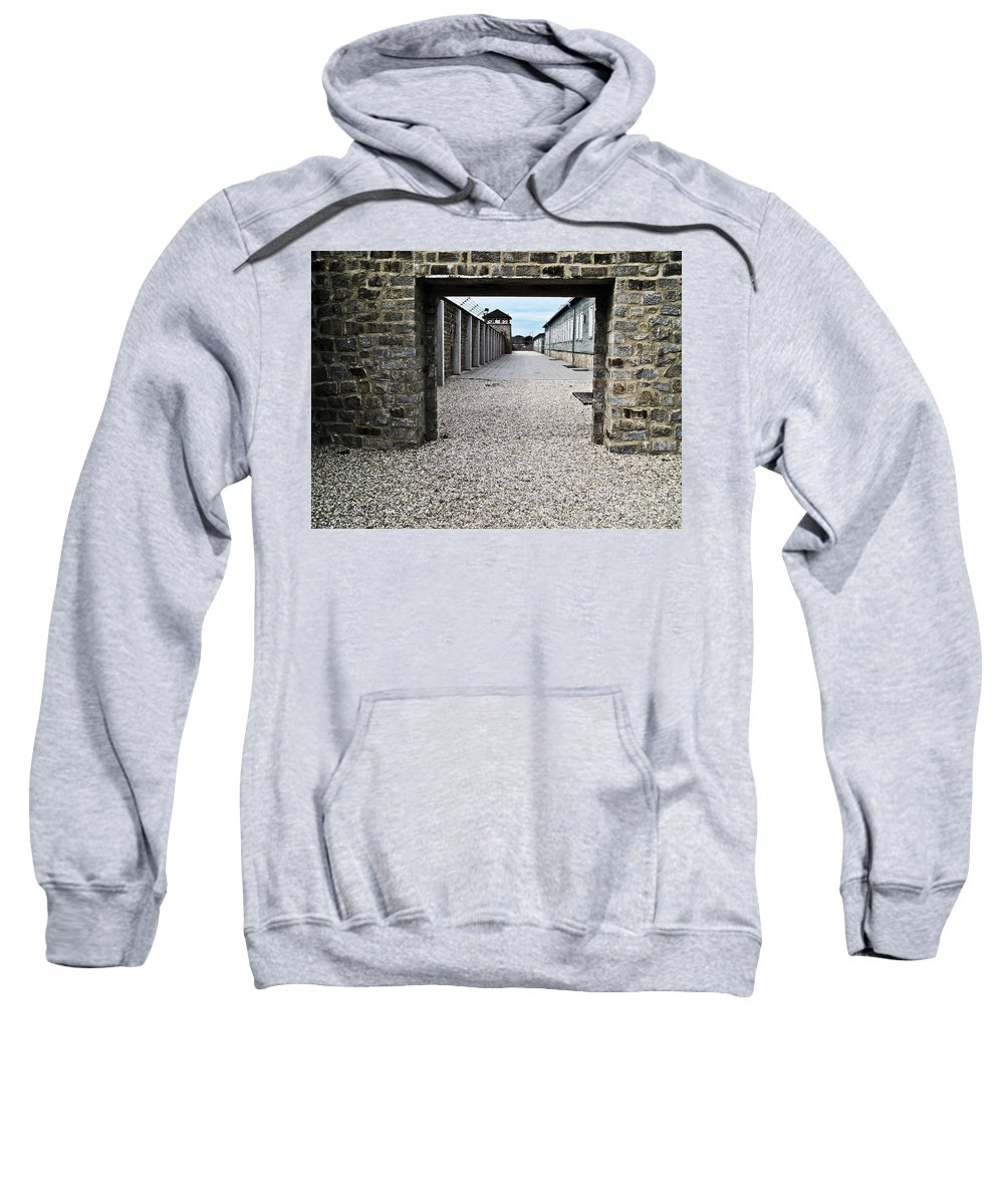 Travel Sweatshirt featuring the photograph Horror Of History by Elvis Vaughn