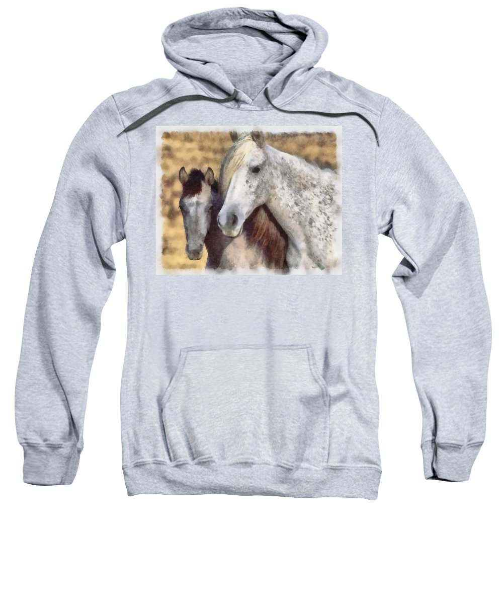 Horse Sweatshirt featuring the photograph Horse One by Ingrid Smith-Johnsen