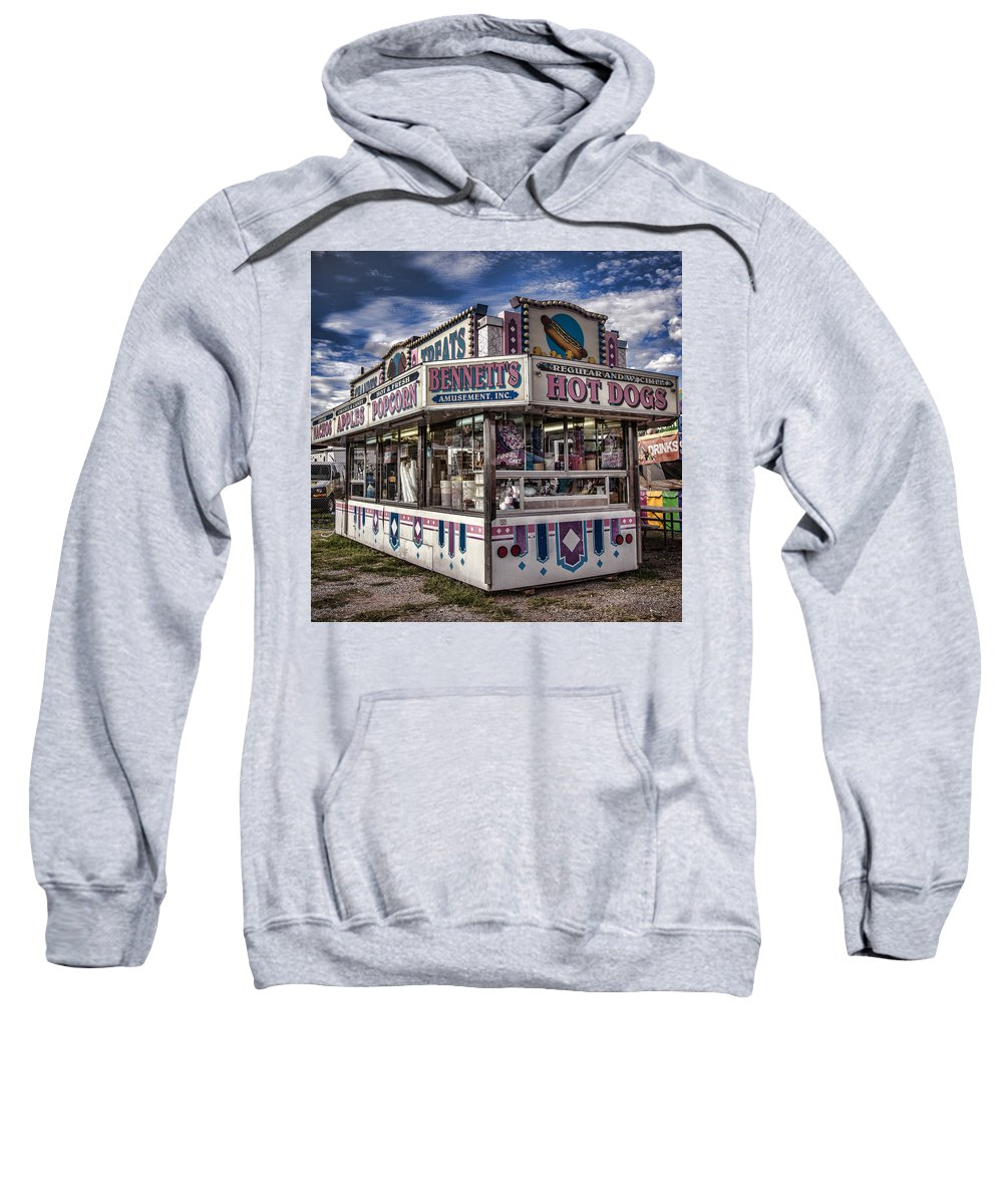 County Fair Sweatshirt featuring the photograph Hot Dogs by Diana Powell