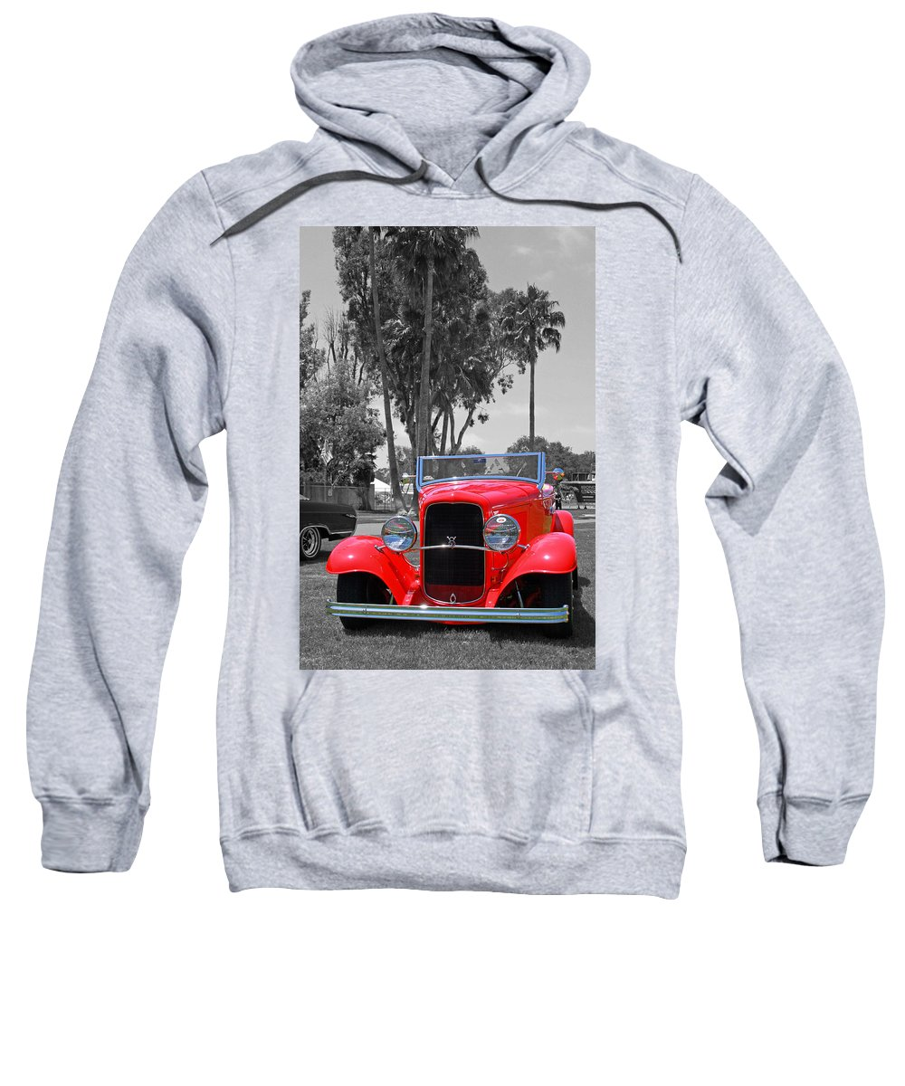 Classic Car Sweatshirt featuring the photograph Hot V8 by Shoal Hollingsworth