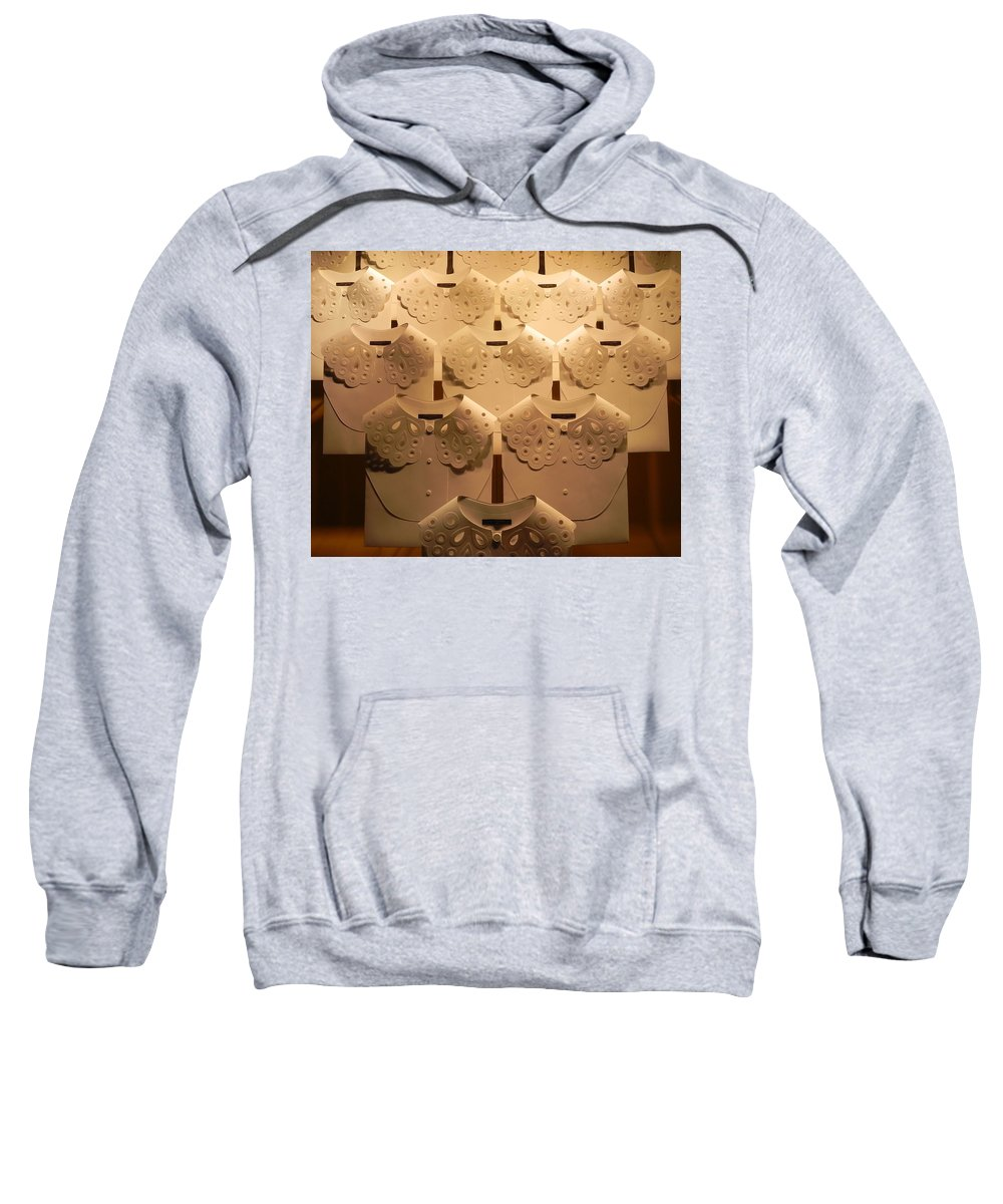 Louis Vuitton Sweatshirt featuring the photograph Louis Vuitton Window Display by Cheryl Hoyle