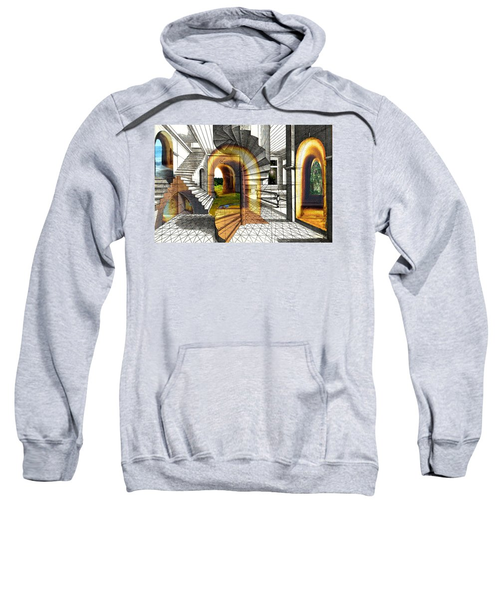 House Sweatshirt featuring the digital art House Of Dreams by Lisa Yount