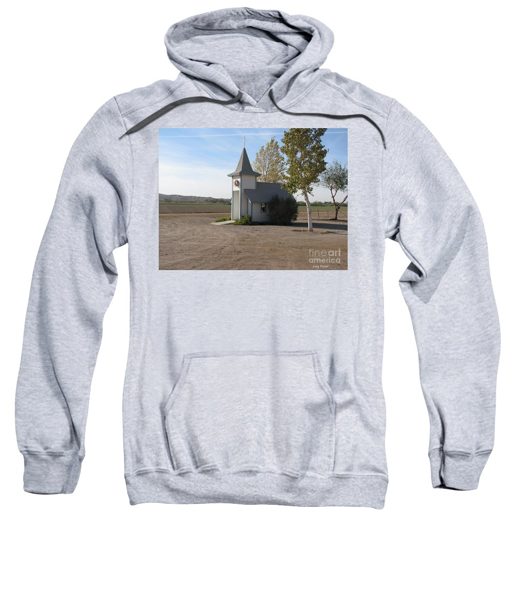 Patzer Sweatshirt featuring the photograph House Of The Lord by Greg Patzer