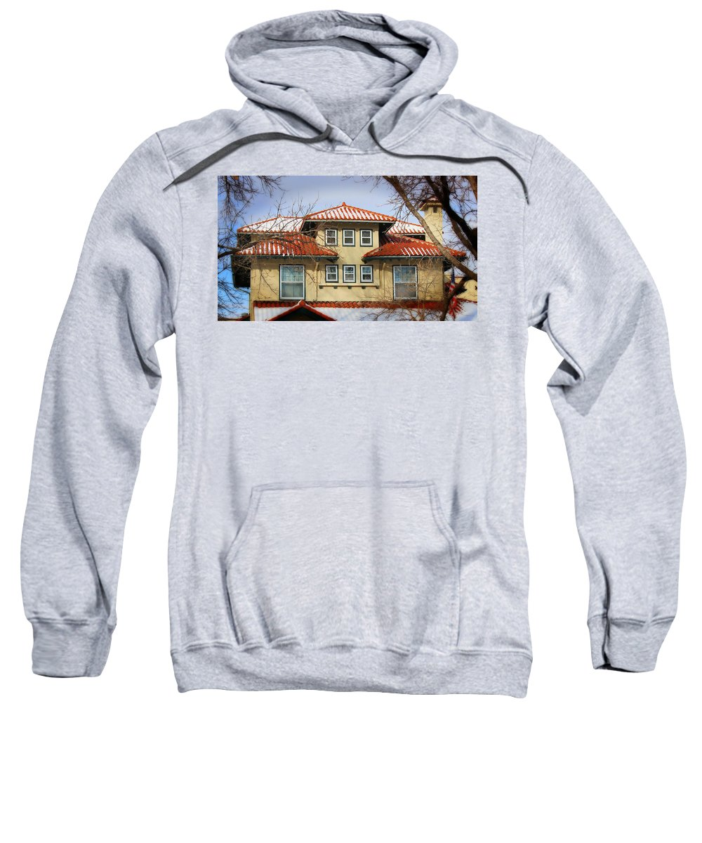 Sweatshirt featuring the photograph House by Sylvia Thornton