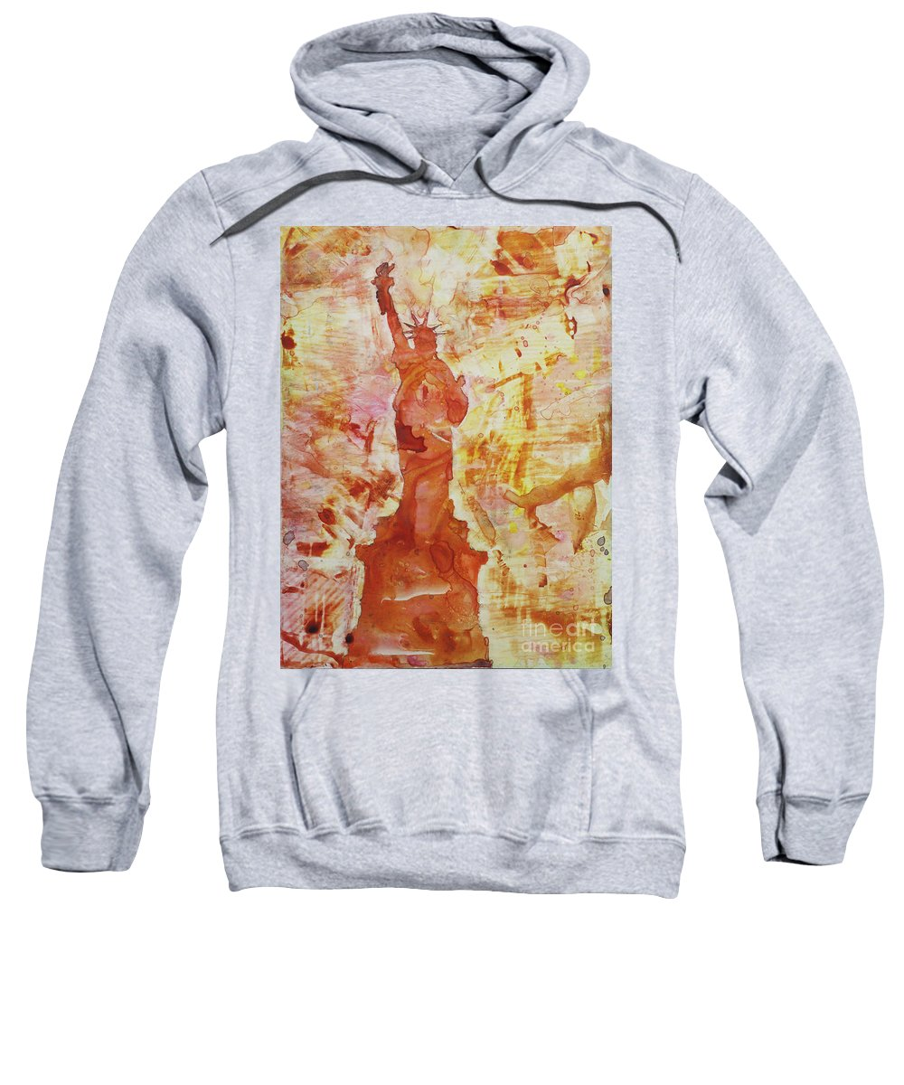 Sweatshirt featuring the painting How I Feel When I Smoke The Last Cigarette by Ryan Fox
