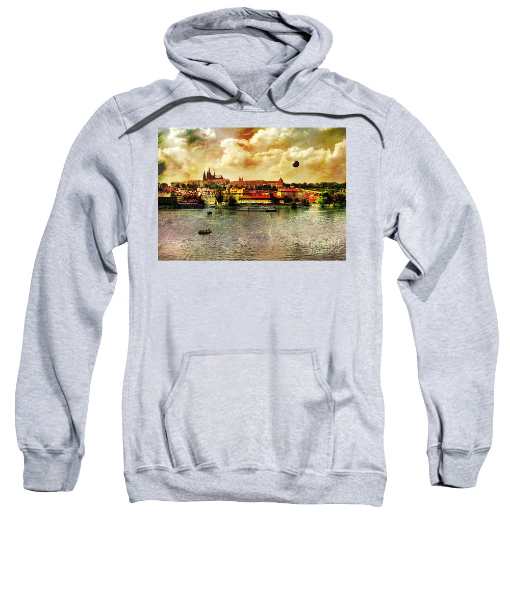 Hradczany Art Sweatshirt featuring the photograph Hradczany - Prague by Justyna JBJart
