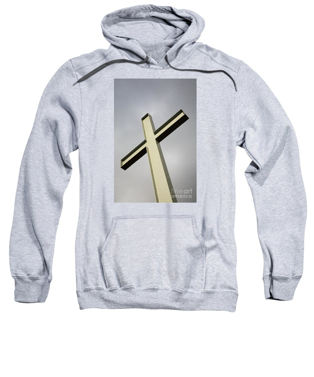 Angle Sweatshirt featuring the photograph Huge Cross by Deborah Benbrook