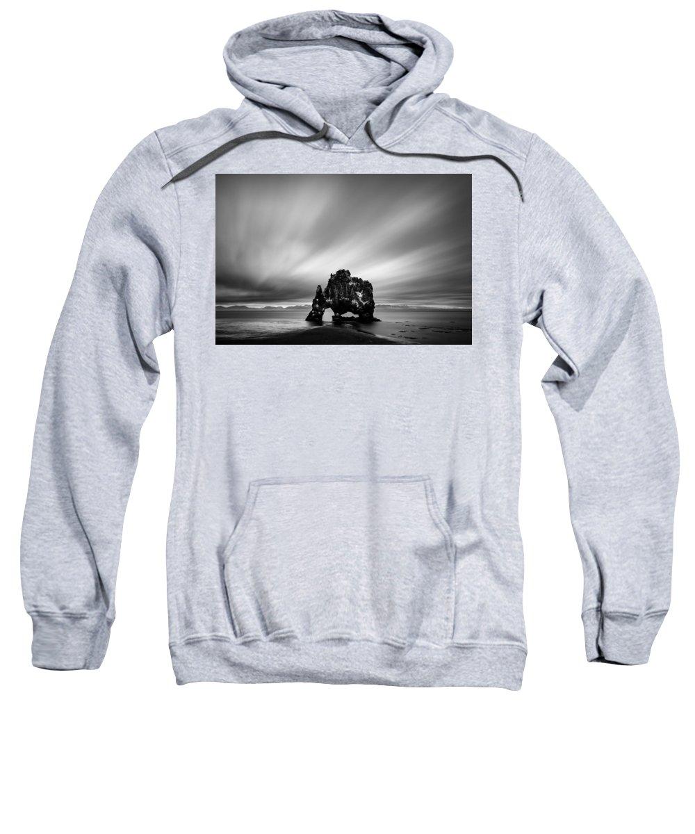 Hvitserkur Sweatshirt featuring the photograph Hvitserkur by Dave Bowman