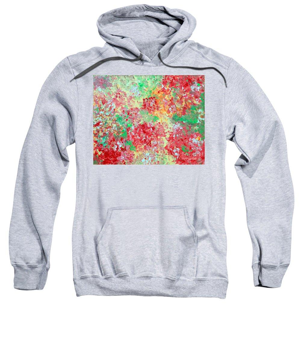 Print Sweatshirt featuring the painting Hydrangeas II by Alys Caviness-Gober