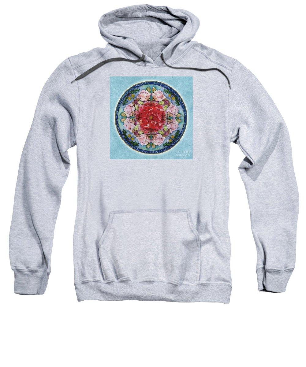 Mandala Art Sweatshirt featuring the painting I Am That Mandala by Jo Thomas Blaine