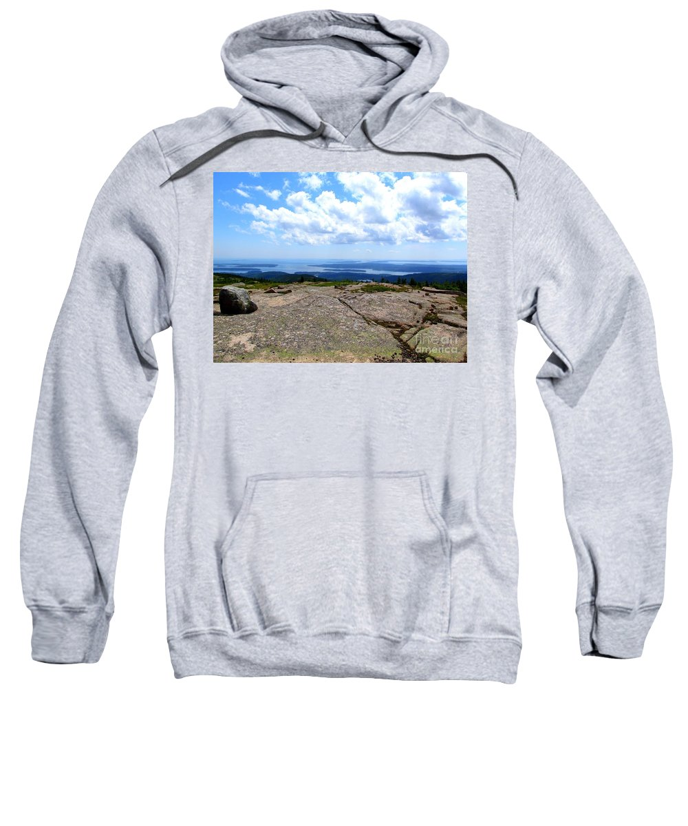 Water Sweatshirt featuring the photograph I Can See For Miles And Miles by Elizabeth Dow