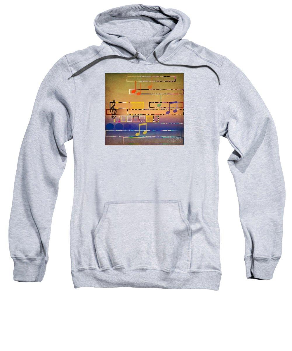 Music Sweatshirt featuring the digital art I Have Music In My Heart by Ruta Naujokiene