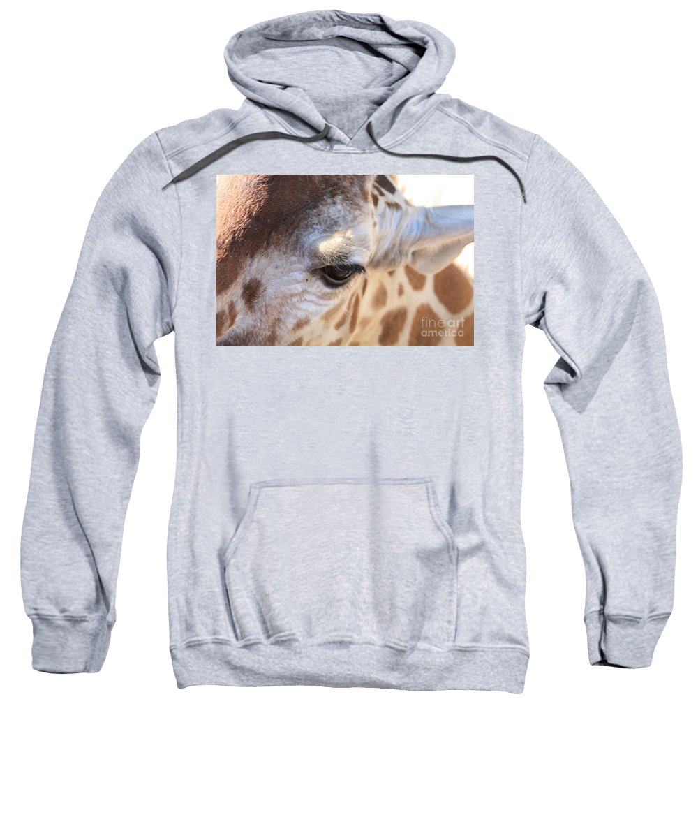 Giraffe Sweatshirt featuring the photograph I See You by Brandi Maher