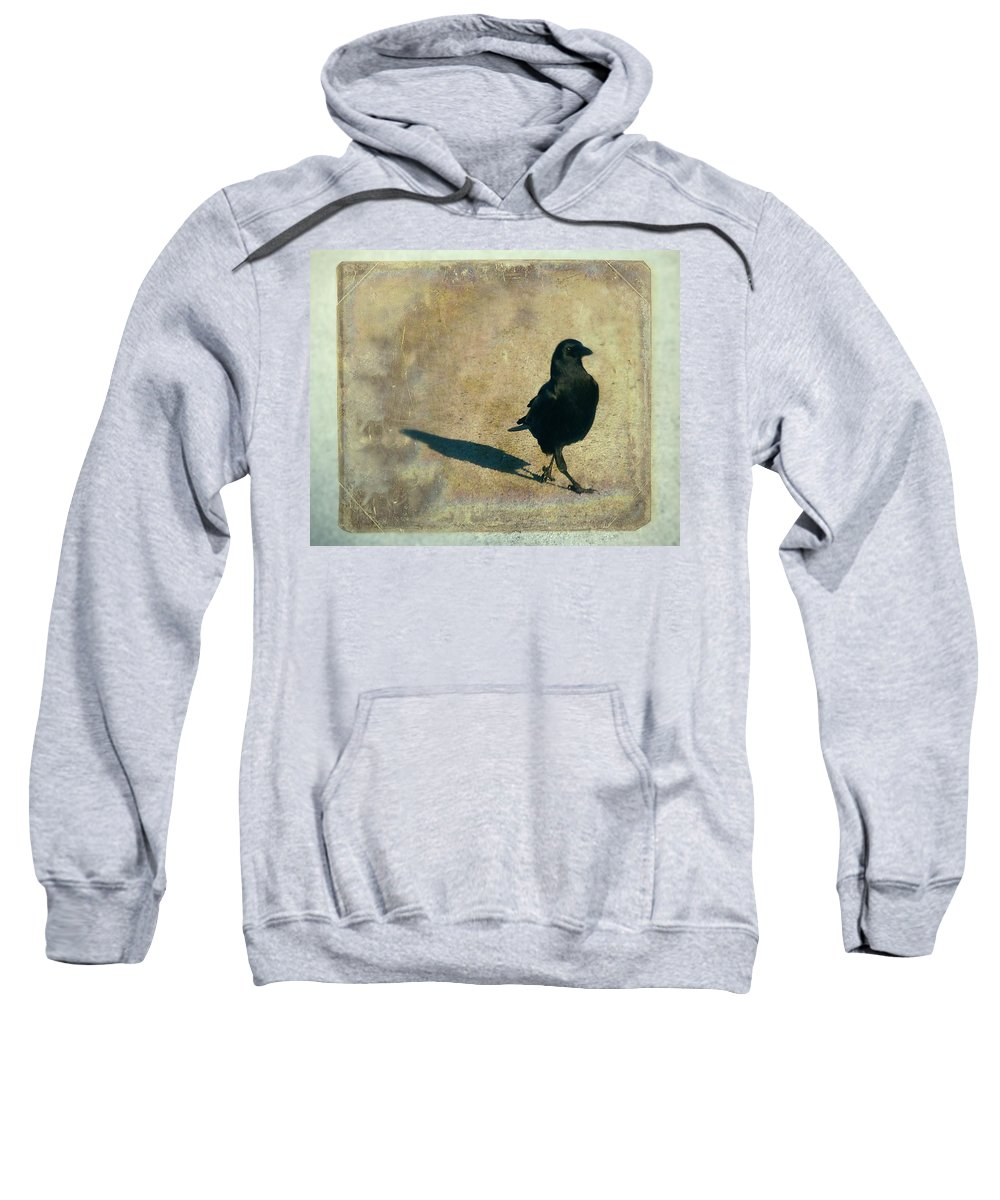 Crow Sweatshirt featuring the photograph I Walk Alone by Gothicrow Images