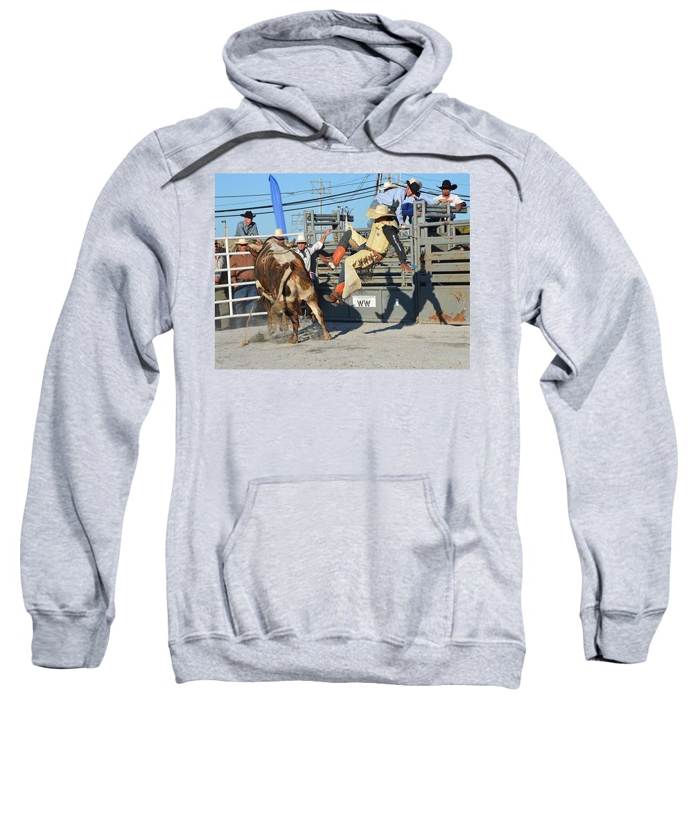 Cowboy Sweatshirt featuring the photograph Flying Shadow by Michael Keough