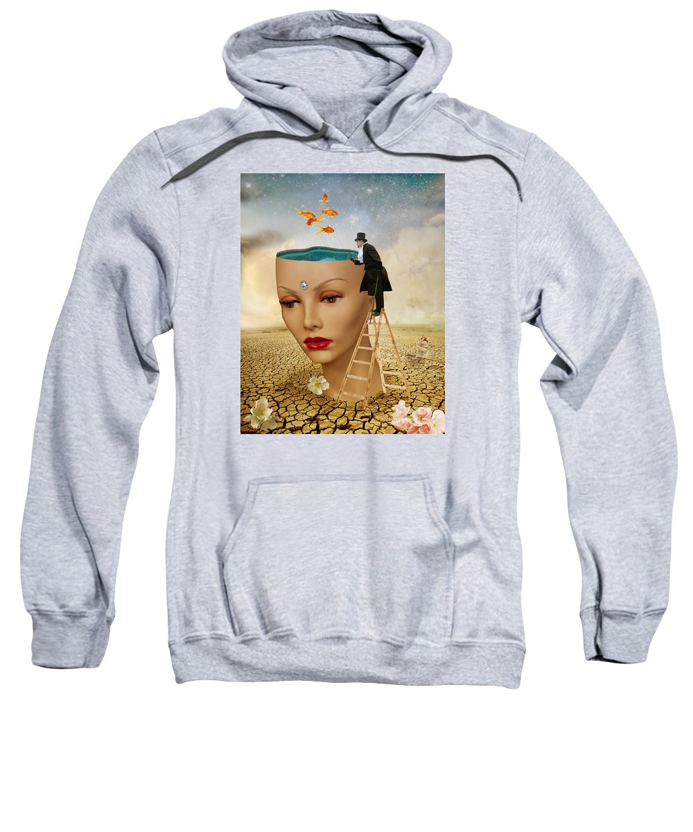 Digital Art Sweatshirt featuring the photograph I Want To Look Inside Your Head by Juli Scalzi