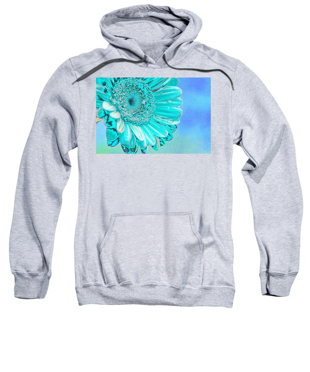 Blue Sweatshirt featuring the digital art Ice Blue by Carol Lynch