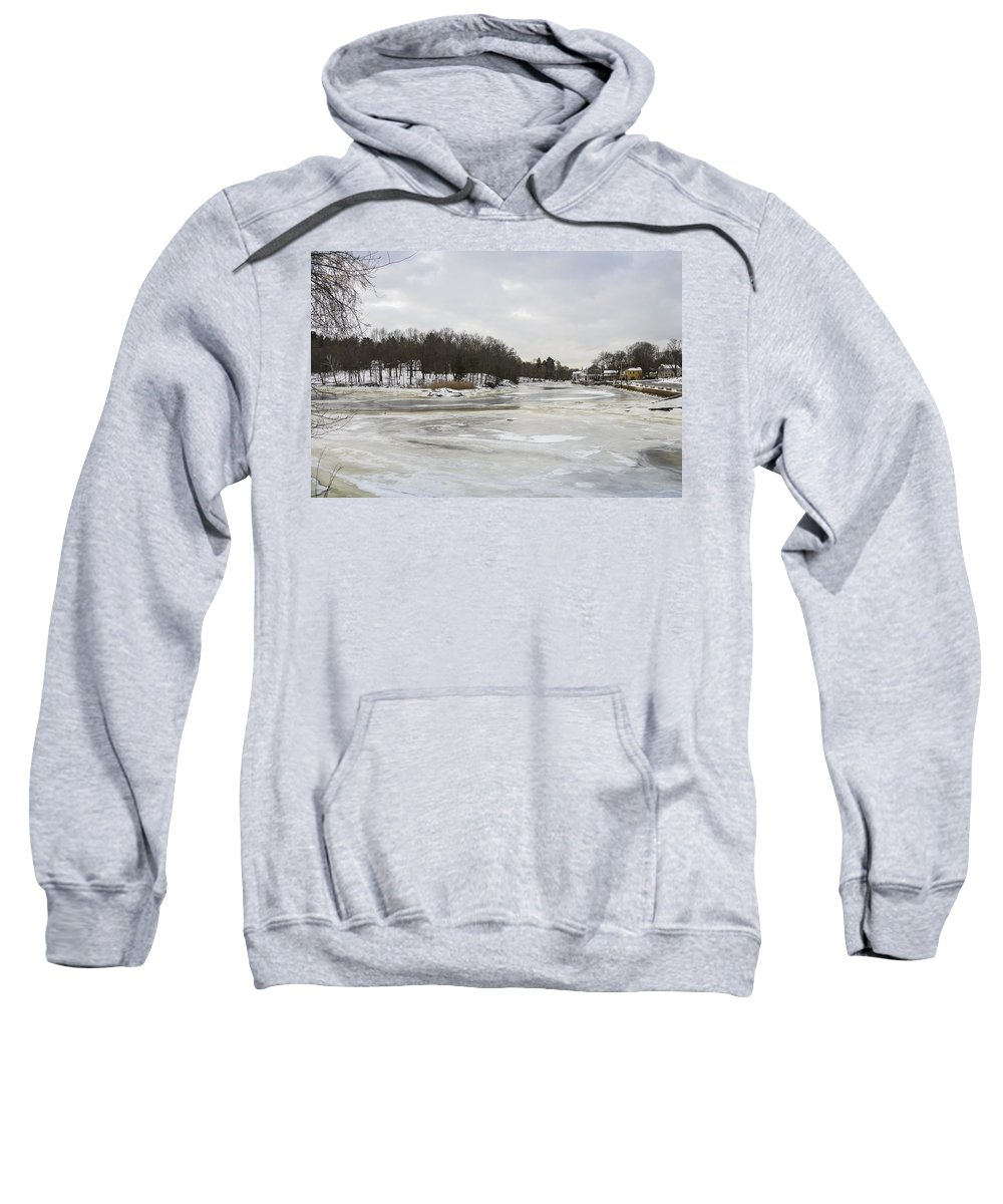 Ice Sweatshirt featuring the photograph Ice On The Ipswich River by David Stone