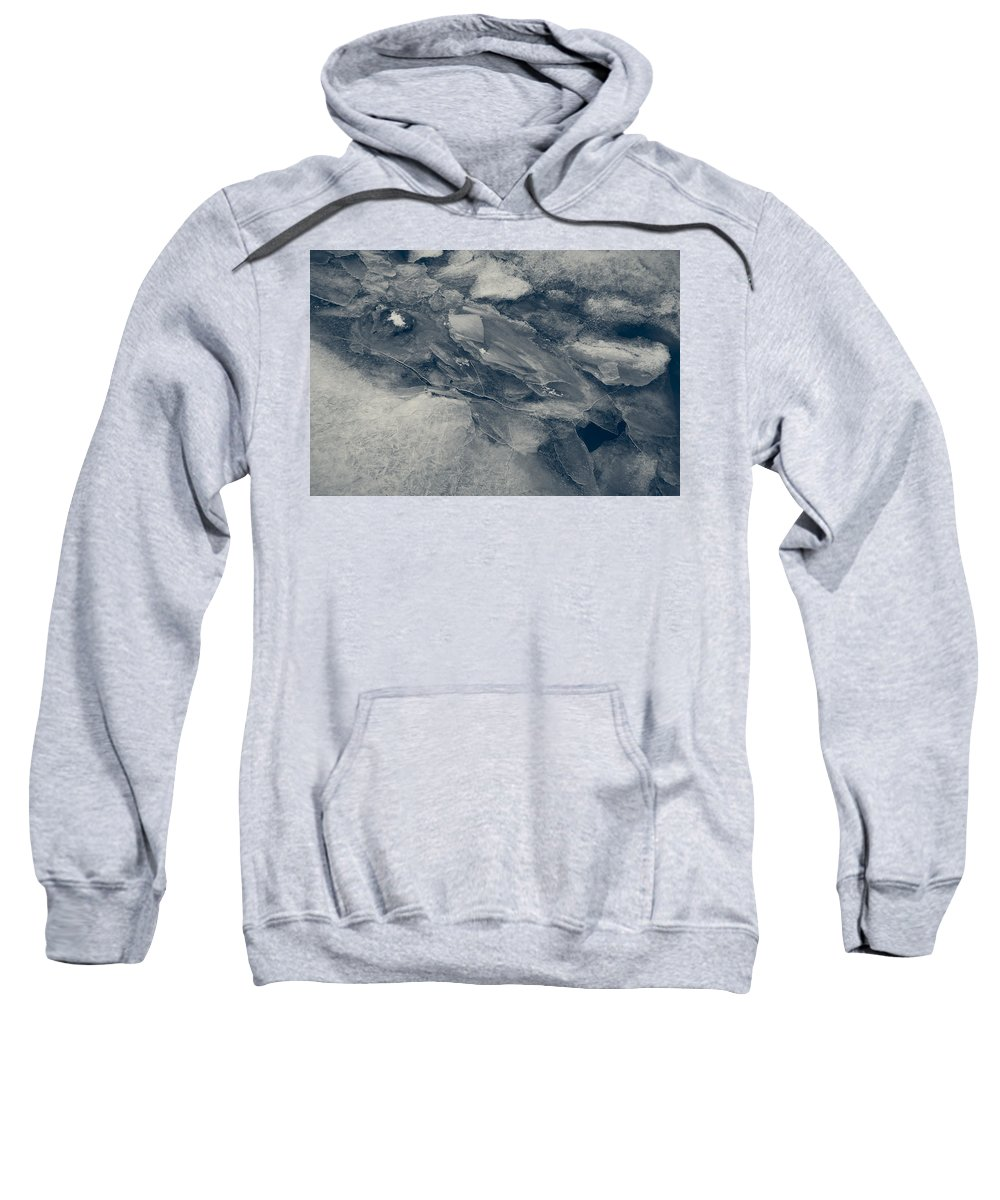 Ice Sweatshirt featuring the photograph Ice Tones by David Stone
