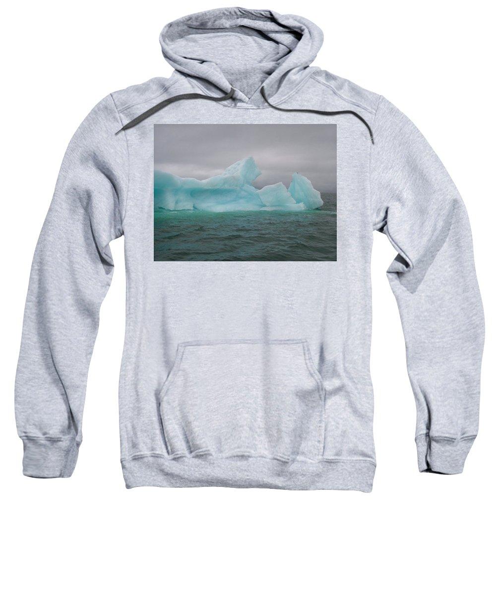 Iceberg Sweatshirt featuring the photograph Iceberg by Geoffrey McLean