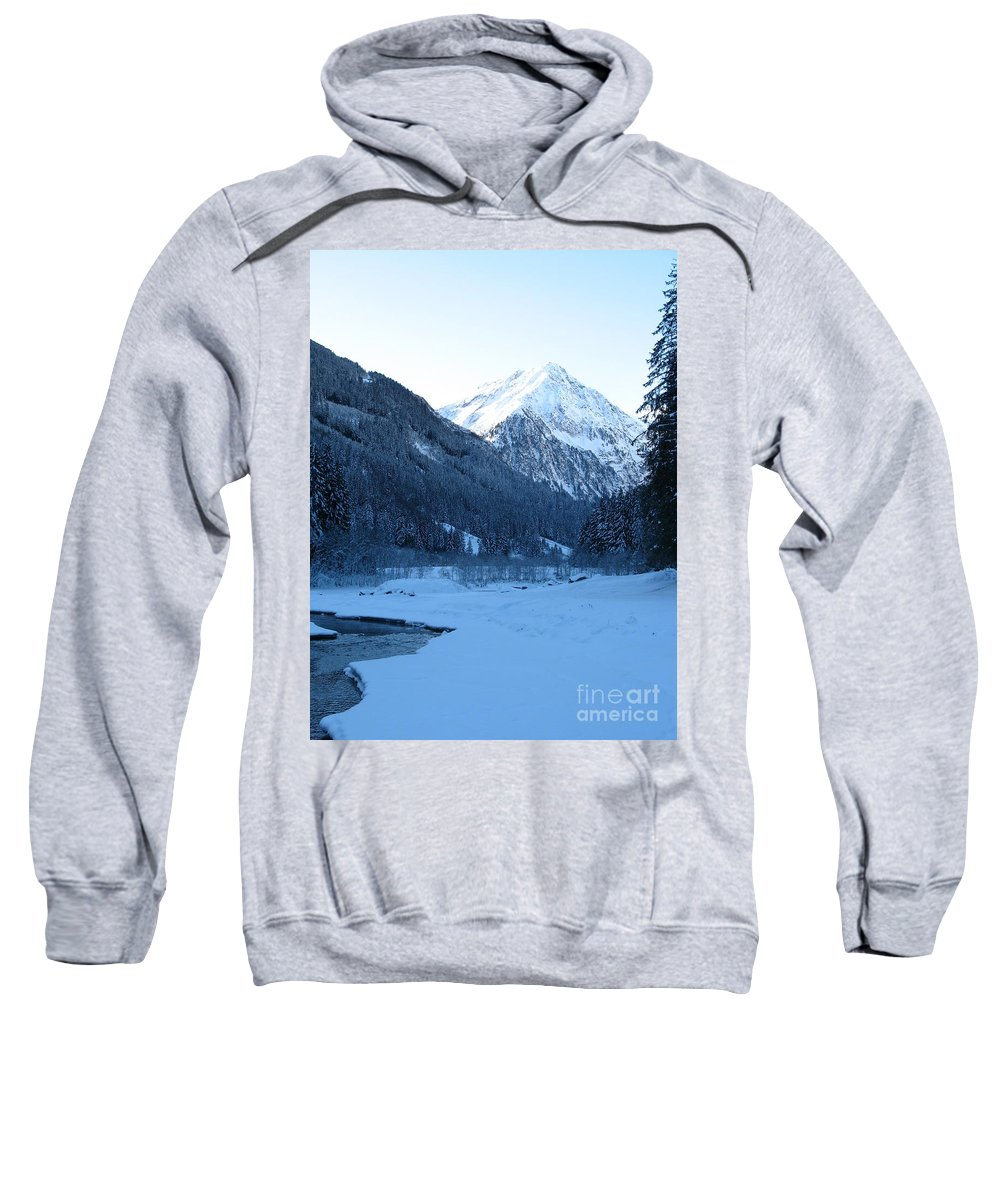Snow Sweatshirt featuring the photograph Iceblue Snow by Christiane Schulze Art And Photography