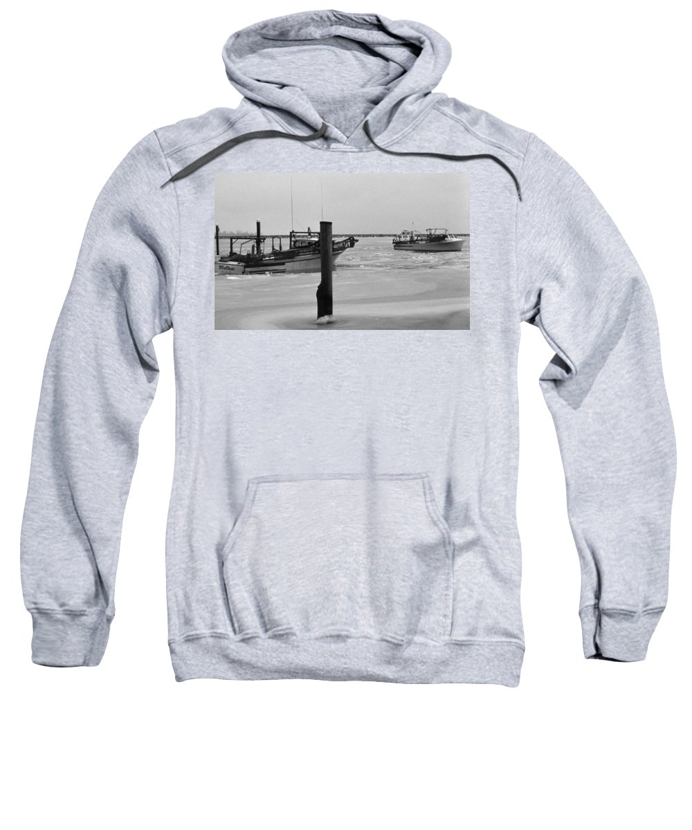 Md Sweatshirt featuring the photograph Iced In by Skip Willits