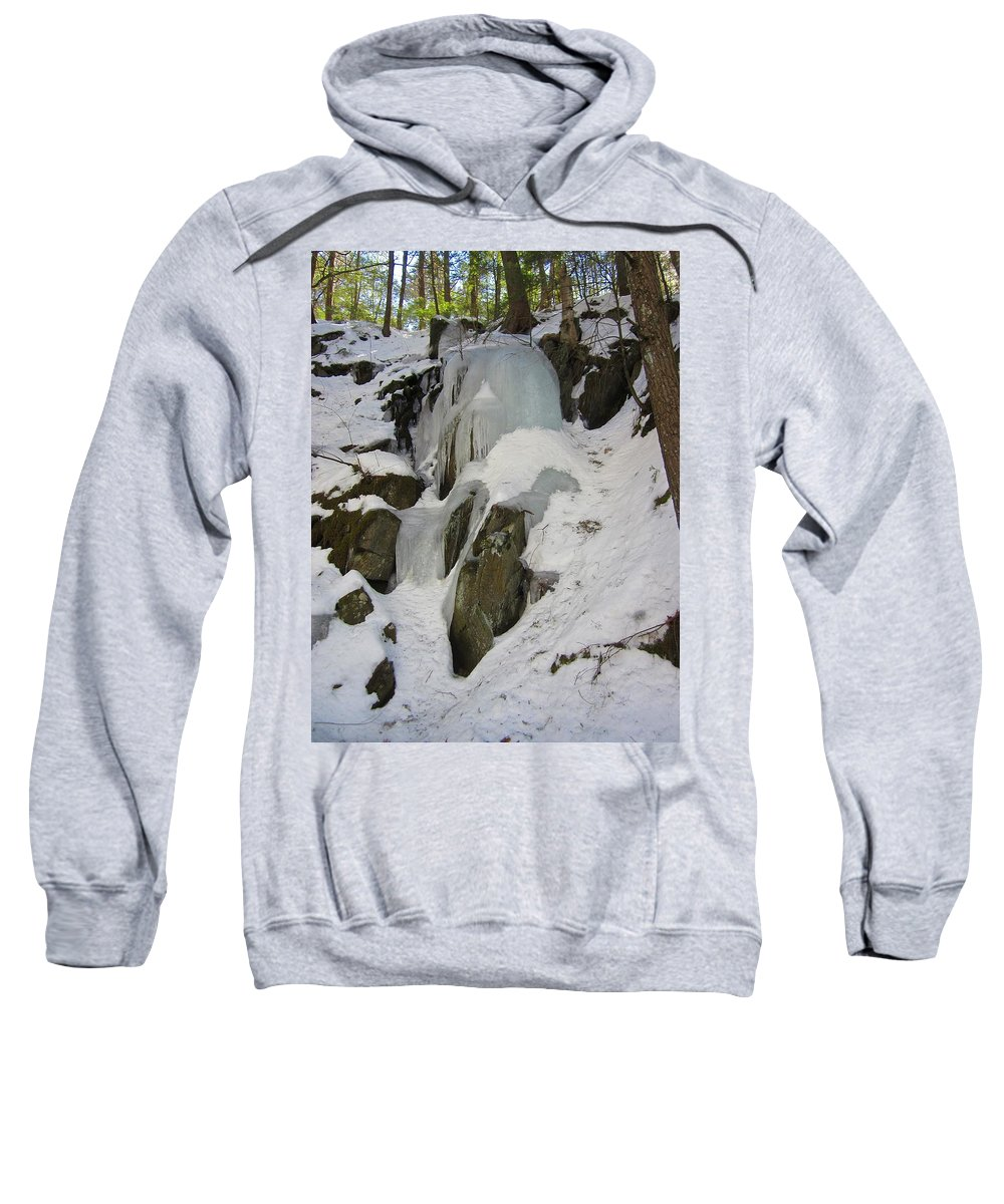 Ice Sweatshirt featuring the photograph Iced Rocks by MTBobbins Photography