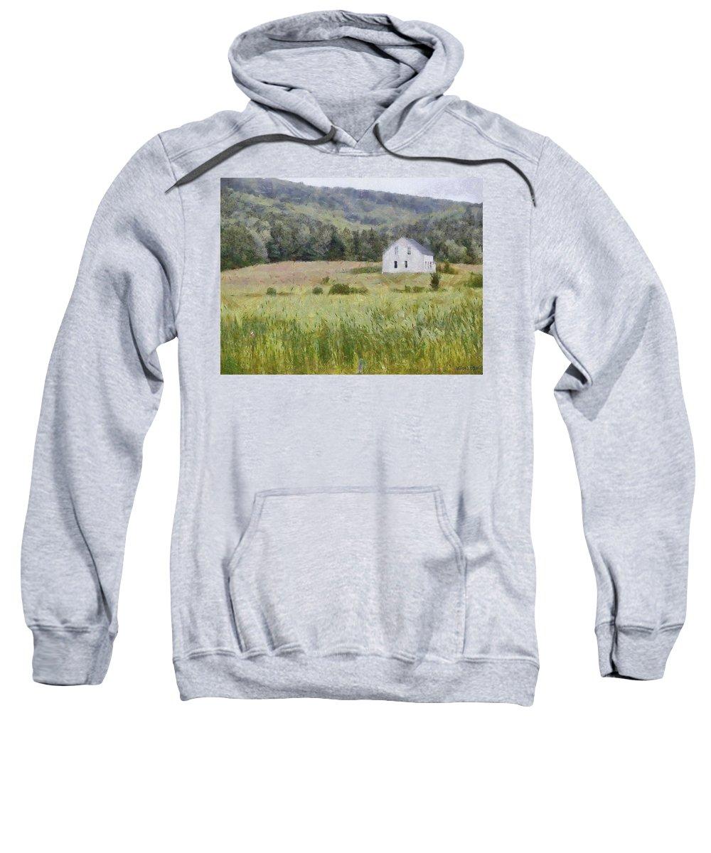 Alone Sweatshirt featuring the painting Idyllic Isolation by Jeffrey Kolker