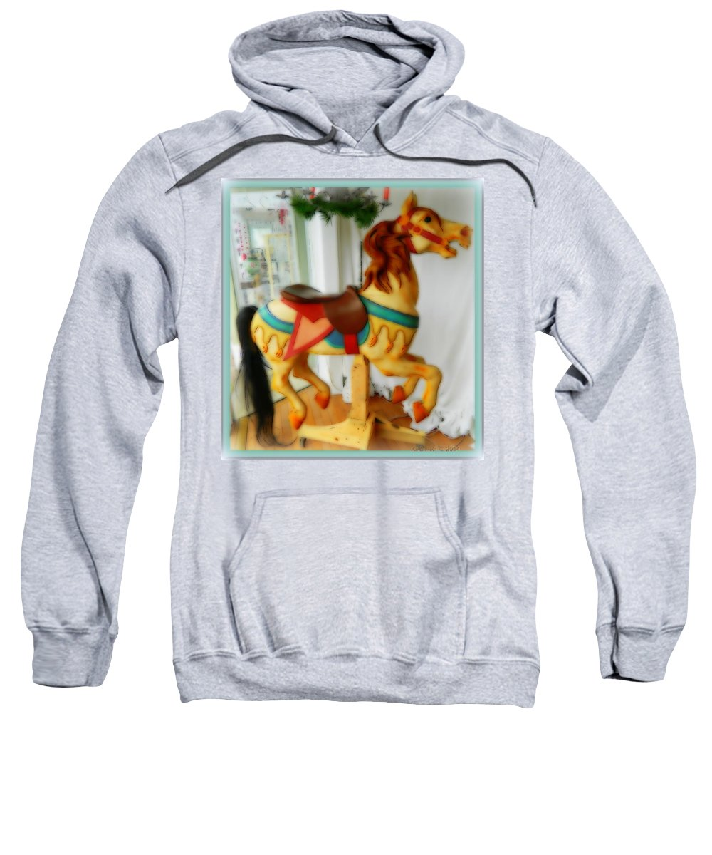 Animal Sweatshirt featuring the photograph If Wishes Were Horses by Kathy Barney