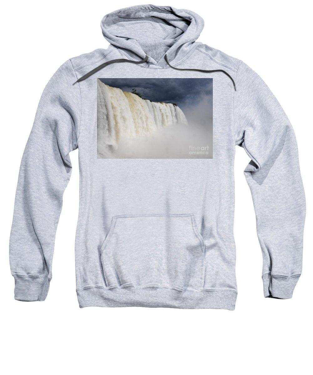 Iguacu Falls Sweatshirt featuring the photograph Iguacu Falls Majesty by Vivian Christopher