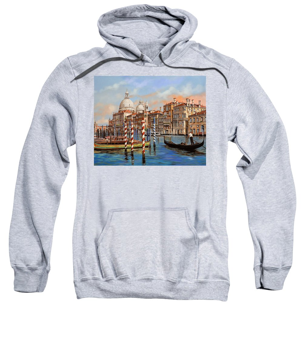 Venice Sweatshirt featuring the painting Il Canal Grande by Guido Borelli